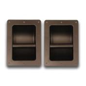 Seismic Audio - Pack of Two (2) Black Metal Recessed PA/DJ Speaker Bar Handles