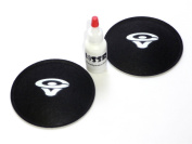 2 Cerwin Vega 9.5cm Felt Logo Dust Cap Kit with Adhesive
