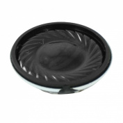 Gino 1 Watt 8 Ohm 28mm Dia Magnetic Type Aluminium Round Speaker Silver Tone Black