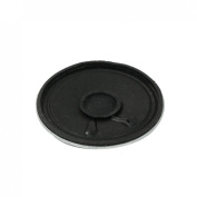 Gino 50mm Diameter Silver Tone Black Round Internal Magnet Speaker 8 Ohm 1W