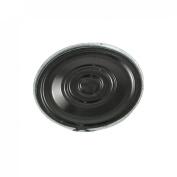 Gino 0.25W 8 Ohm Silver Tone Black Aluminium Housing Round Magnet Speaker 20mm Dia