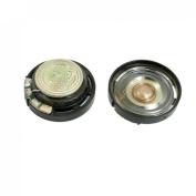 Gino 2cm Diameter Round Slim External Magnet Speaker Horn 8 Ohm 0.25W 2 Pcs