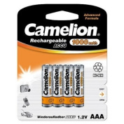 Camelion AAA Rechargeable Ni-MH Battery 1.2V 4Pcs per Pack. Standard 1000mAh Battery