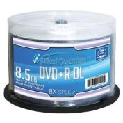Optical Quantum 8X 8.5GB DVD+R Double Layer Blank Disc White Thermal Hub Printable, 50 pcs