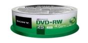 Sony 25DPW47SP DVD+RW 4X 4.7GB Spindle Rewritable DVD, 25-Pack