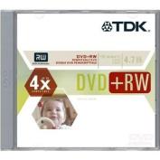 Tdk 2x Dvd+rw Media - 4.7gb - 120mm Standard - 1 Pack Jewel Case