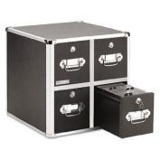 Four-Drawer CD File Cabinet Holds 660 Folders/240 Slim/120 Std. Cases Four-Drawer CD File Cabinet, Holds 660 Folders/240 Slim/120 Std. Cases