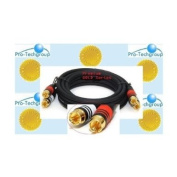 Pro-Techgroup 4.6m PREMIUM 2 RCA Plug/2 RCA Plug M/M 22AWG GOLD Cable for Left/Right sound