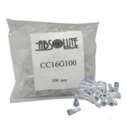 Absolute CC16G1000 Crimp Caps 1000 Pieces for Car Audio and Security Installations