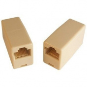 Micro Connectors, Inc. 10 Pack CAT 5E In Line RJ45 Coupler Straight Through