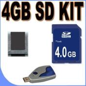 4GB SD / HC Memory Card Secure Digital BigVALUEInc Accessory Saver Bundle for Canon Cameras