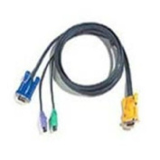 ATEN PS2 KVM Cable, SPHD-15 Male to VGA and PS2, 2L5206P, 20 Feet