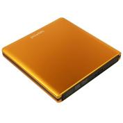 Pawtec Signature External USB 3.0 Aluminium 8X DVD-RW Writer Optical Drive with Lightscribe - ORANGE