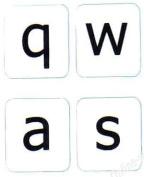 English Us Large Letter (lower case) Keyboard Label White Backgroubd Non Transparent For Computer Laptops Desktop