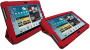 LuvTab RED for Samsung Galaxy Tab 2 GT-P5110 (25cm tablet) Multifunctional Multi Angle Luxury Executive Wallet / Cover / Stand / Flip Case