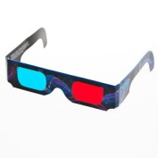 3 D Red And Blue Anaglyphic Glasses