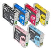 Full SET (6 Cartridges) 98 High Capacity Genuine Cartridges for  compatible with  compatible with  compatible with  compatible with  compatible with  compatible with  compatible with  compatible with  compatible with  compatible with  compatible with Epso