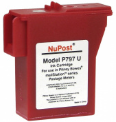 NuPost NPTK700 Compatible Red Ink Cartridge Replacement for Pitney Bowes Postage Metre 797-0, 797-M, 797-Q