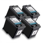 Printronic Remanufactured Ink Cartridge Replacement for HP 21 C9351AN (4 Black) 4 Pack