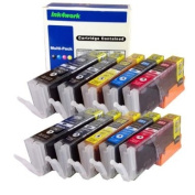 ink4work Set of 10 Pack PGI-250XL & CLI-251XL Compatible Ink Cartridge Set for Pixma IP7220, MG5420, MG6320, MX722, MX922