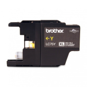 for Brother Printer LC75Y High Yield (XL Series) Yellow Cartridge Ink - Retail Packaging