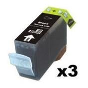 Canon PGI-5Bk 3 Pack Compatible Inkjet Cartridge w/ Chip for Pixma MP500 MP530 MP600 MP800 iP4-Black