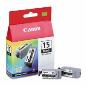 CANON BCI-15Bk (Twin Pack) Black Ink Cartridges 8190A003
