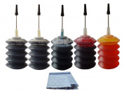 ND Brand 5x30ml HP Printer 564 564 XL Cartridge Ink Refill Kit Colour & Black and HP Photosmart 5510 5514 6510 7510 C6350 C6380P D5445 D5460 D7560 B210a C309 C310a C6380 ,Photosmart Premium, Photosmart Fax C410a, Photosmart Pro B8550 printers