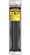 Pro Tie B14HD100 37cm Heavy Duty Standard Cable Tie, UV Black Nylon, 100-Pack