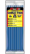 Pro Tie BL8SD100 20cm Blue Standard Duty Colour Cable Tie, Blue Nylon, 100-Pack