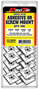 Pro Tie N1PSSM100 2.5cm Adhesive or Screw Mount Cable Tie Mount, Natural Nylon, 100-Pack