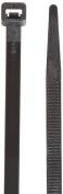 Morris Products 20276 Ultraviolet Nylon Cable Ties, Black, 38cm Length, 0.8cm Width, 50kg Tensile Strength, 10cm - 0.8cm Max Bundle Diameter