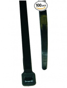L.H. Dottie DT14B Cable Tie, Standard Duty, 37cm Length by 0.5cm Width by 0.1cm Thickness, UV Black, 100-Pack