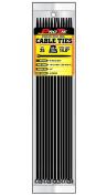 Pro Tie B14SSP25 36cm Stainless Steel Pawl Cable Tie, UV Black Nylon, 25-Pack