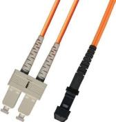 2M Multimode Duplex Fibre Optic Cable (62.5/125) - MTRJ to SC