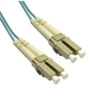 Offex Wholesale LC / LC, Multimode, Duplex Fibre Optic Cable, 10-Gigabit Aqua, 50/125, 3 Metre