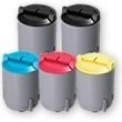 Compatible Toner Cartridges - includes 2 Black, 1 Cyan, 1 Magenta & 1 Yellow (replaces the for for for for for for for for for for Samsung CLP-300 Series Toners) - 5 Pack