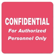 Medical Labels for Confidential 2 x 2 Red 500/Roll