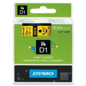 Wholesale CASE of 10 - Dymo ExecuLabel D1 Electronic Tape Cartridges-DYMO D1 Electronic Tape, 1.3cm x23' Size, Black/Yellow