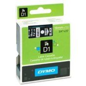 Wholesale CASE of 10 - Dymo ExecuLabel D1 Electronic Tape Cartridges-DYMO D1 Electronic Tape, 1.9cm x23' Size, White/Black