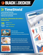 Black and Decker TimeShield Thermal Laminating Pouches, Letter, 3 mil - 100 Pack