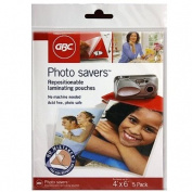 GBC Photo Savers Repositionable Laminating Pouches, 10cm x 15cm , Clear Gloss, 5 Pouches per Pack