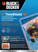 Black and Decker TimeShield UV Thermal Laminating Pouches, 5 x 7 Photo, 5 mil - 25 Pack