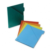Acco Wlj-28800 Wilson Jones Colorlife Plus Slash Jackets - Letter - 8.5 X 11 - 1/5 Tab Cut - 0.5 Expansion - 5 / Pack - 9.5pt. - Placid Blue Sienna Red Spruce Green Shady Olive Terracotta