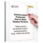 C-Line Products, Inc. : Pockets, Antimicrobial Peel/Stick, Letter, 10/PK, Clear -:- Sold as 2 Packs of - 10 - / - Total of 20 Each