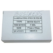 5mil Matte Clear Business Card Laminating Pouches - 100pk