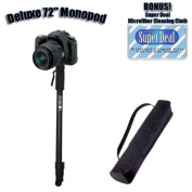 Professional 180cm Heavy Duty Monopod With Deluxe Soft Case For The Nikon D3, D300, D3X, + Exclusive FREE Complimentary Super Deal Micro Fibre Lens Cleaning Cloth