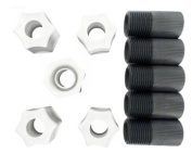 Stenner MCADPTR Connecting Nut 1cm w/Adapter, 5/pk