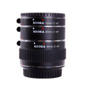 Micnova KK-C68 Copper Macro AF Extension Tube Set for Close-up Image for Canon