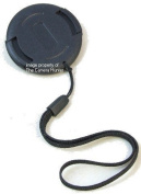 Deluxe 43mm Lens Cap Centre Pinch String Leash Holder Strap